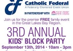 3rd Annual Kids Block Party - September 13th